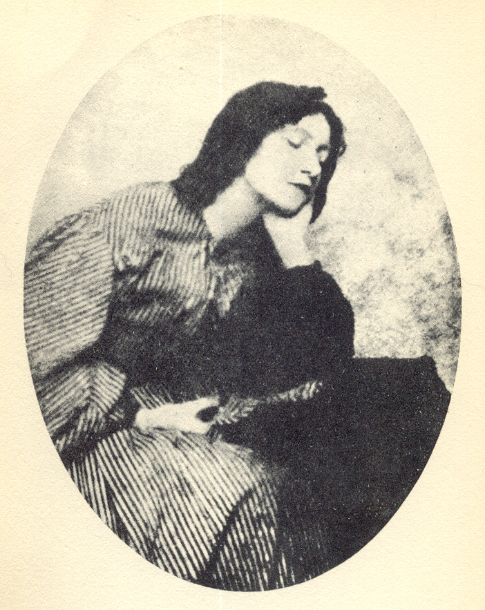 Oval photo of Elizabeth Siddal