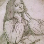 Drawing of Elizabeth Siddal, Dante Gabriel Rossetti