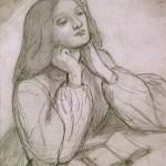 Drawing of Elizabeth Siddal, Dante Gabriel Rossetti