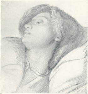 Elizabeth Siddal drawn by DGR in Hastings, 1860
