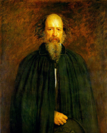 Portrait of Tennyson, painted by Millais