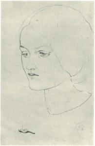 Study of Elizabeth Siddal, circa 1850