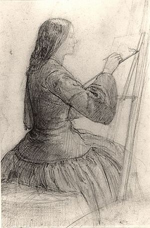 siddal-at-easel