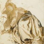 Elizabeth Siddal with parasol, Dante Gabriel Rossetti