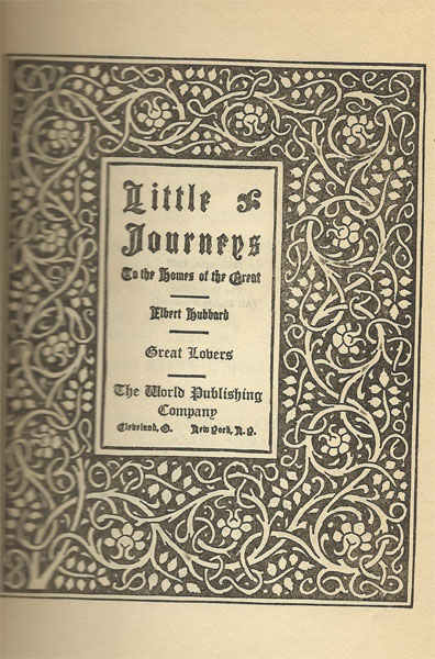 Little Journeys frontispiece