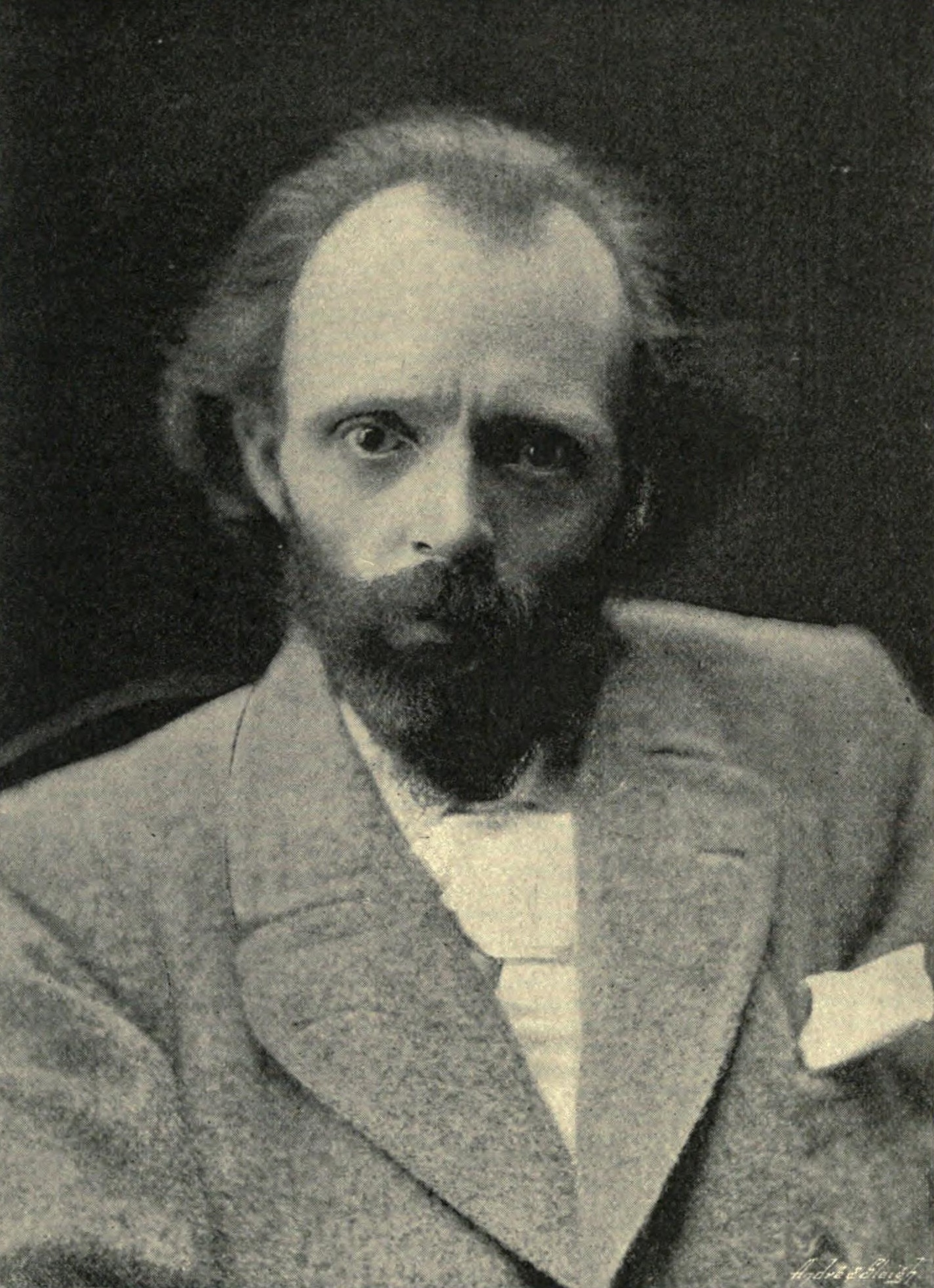 Photograph of Hall Caine by H. S. Mendelssohn