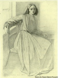 Sketch of Elizabeth Siddal drawn by Dante Gabriel Rossetti