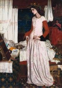 William Morris's painting of Guenevere (titled La Belle Iseult). Model Jane Morris.
