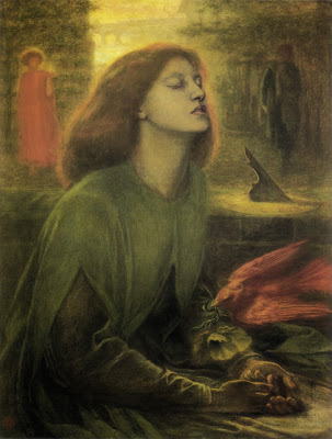 To say Rossetti painted this from her corpse is far more interesting than saying he used existing sketches