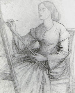 Elizabeth Siddal Painting at an Easel (1850s) D G Rossetti